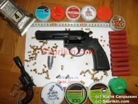 Револьвер стартовый, сигнальный Kimar Power Alarm 4.0. Черный. Длинноствольный.