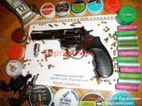 Револьвер стартовый, сигнальный Ekol Viper 4.5. Хром.