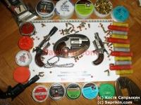 Револьвер стартовый, сигнальный ROHM Little Joe Никелированный в комплекте с пряжкой для ремня.