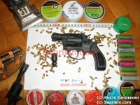 Револьвер стартовый, сигнальный Reck-36 (Smit & Wesson 36) Черный.