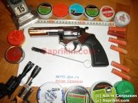 Револьвер стартовый, сигнальный Kimar Power Alarm 4.0. Хром. Длинноствольный.
