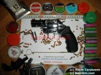 Револьвер стартовый, сигнальный Zoraki R1 Mod.K-6L (2,5) Хром. LOM-S.