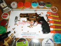 Револьвер стартовый, сигнальный Ekol Viper 2.5. Позолоченый (999 проба)