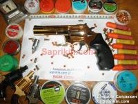 Револьвер стартовый, сигнальный Ekol Viper 4.5. Позолоченый (999 проба)