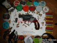 Револьвер стартовый, сигнальный Reck-36 (Smit & Wesson 36) Черный. С деревянной рукояткой