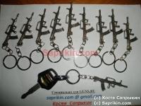 Брелок для ключей Булпап. Серебро.